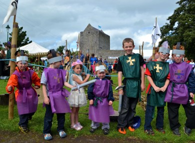 Children taking part in the Walled Towns Day in Athenry, Galway earlier this week.