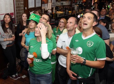 Irish fans watching in a pub (file photo).