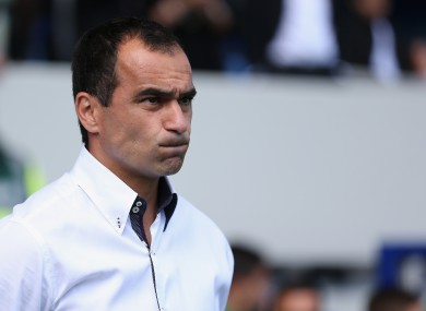 Unimpressed: Everton manager Roberto Martinez.