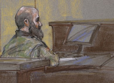 Court sketch of Nidal Malik Hasan