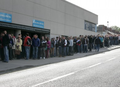 The queue for last year's Jobs Expo.