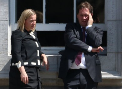 Lucinda Creighton and Paul Bradford during last month's abortion debate