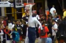 Michael Jordan can still dunk at 50 years of age