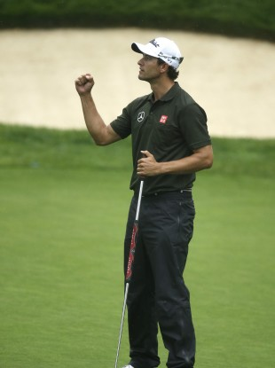 Adam Scott leads the way at the USPGA Championship.
