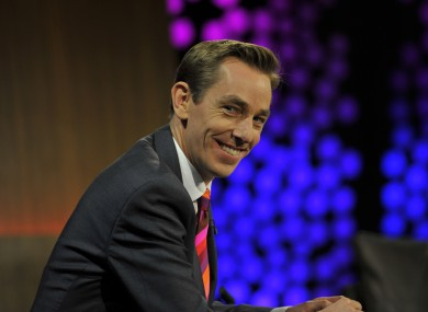 Ryan Tubridy on the Late Late Show set.