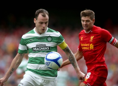 Anthony Stokes and Steven Gerrard.