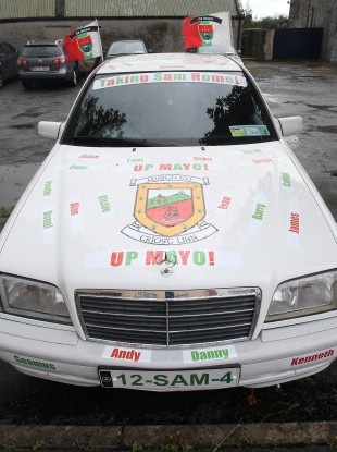 This Mayo fan thankfully only had to change last year's registration plate.