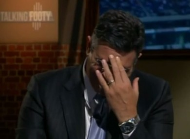 The reaction of AFL chief executive Andrew Demetriou has caused uproar.