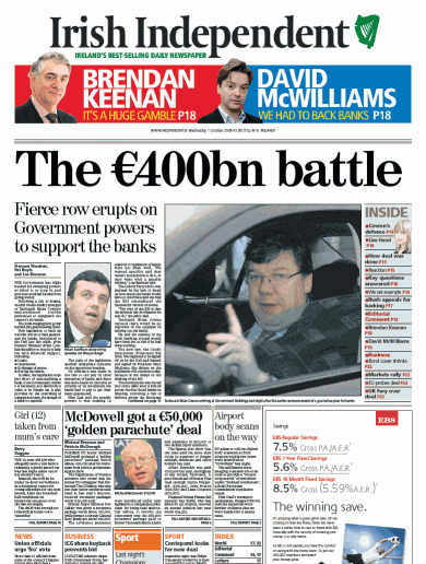The Bank Guarantee on the front pages
