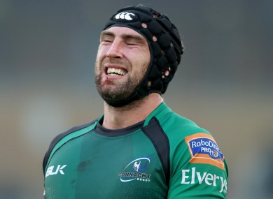 Connacht's John Muldoon is dejected after his side's defeat to Ospreys.
