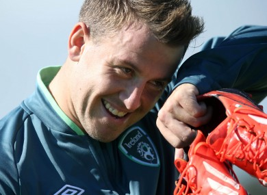 Cox: all smiles in Malahide.