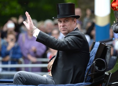 Prince Andrew, The Duke of York, wearing a hat.