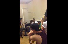 Coolio goes to students' house and sings Gangsta's Paradise in the sitting room