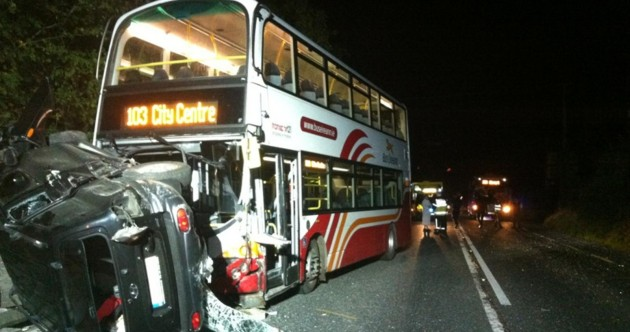 Three people flee the scene after SUV and bus collision in Finglas