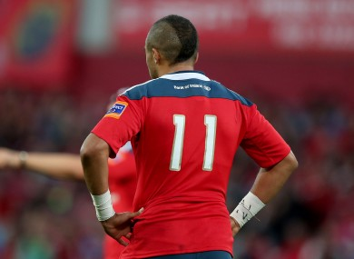 Zebo lines out at 11 for Munster, with Visser wearing the same number for Edinburgh.