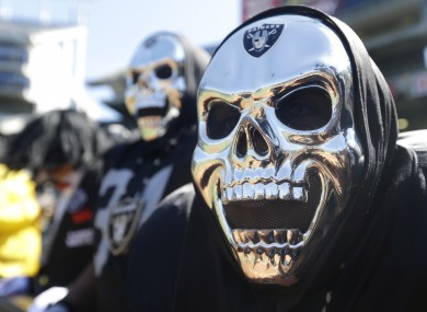 Oakland Raiders fans are known for dressing up at games.
