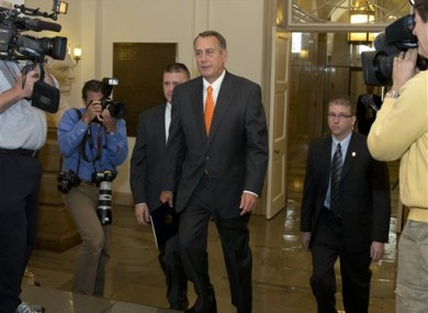 House Speaker John Boehner of Ohio arrives on Capitol Hill