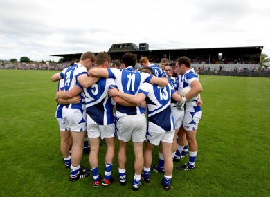 The Laois footballers.