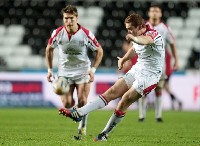 Paddy Jackson converts on of his six penalties.