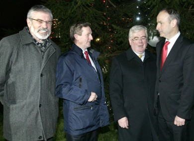 Gerry Adams, Enda Kenny, Eamon Gilmore and Micheál Martin