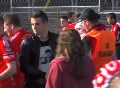 Seamus Coleman at Killybegs county semi-final win.