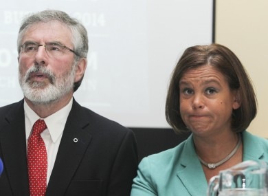 Sinn Féin's Gerry Adams and Mary Lou McDonald yesterday