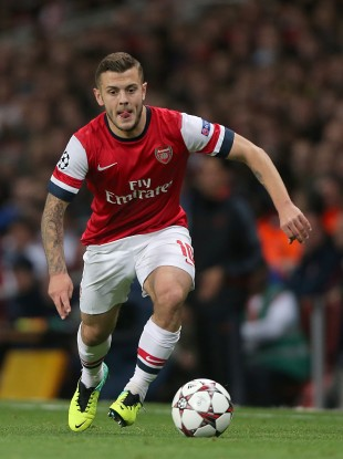 Young Gun: Jack Wilshere was celebrating the win over Napoli.