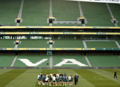 Ireland trained in an empty Aviva Stadium last night -- but will there be many more there this evening?