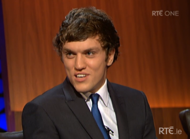 Clare's Shane O'Donnell speaks to Ryan Tubridy on the Late Late Show.