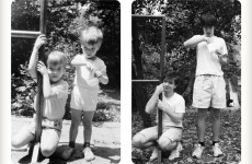 Brothers recreate childhood photos for their mother's 50th birthday
