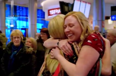 Watch the heartwarming moment a Dublin family are reunited for Christmas