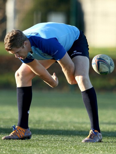 Snapshot: Jamie Heaslip practicing the BOD flick for Saints re-match