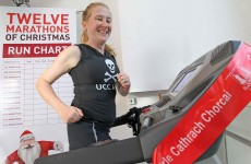 Cork mother to complete '12 marathons of Christmas' in sports-shop window