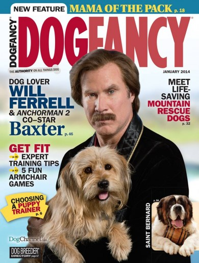 Ron Burgundy and Baxter cover dog lovers' magazine